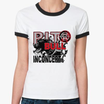 Женская футболка Ringer-T Питбуль