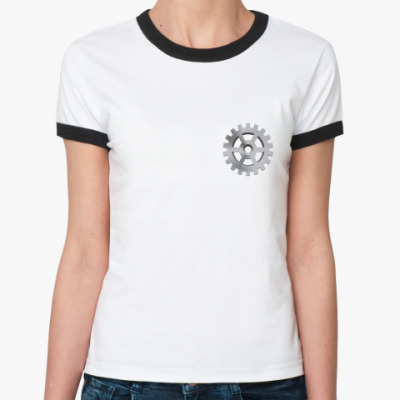 Женская футболка Ringer-T Шестеренка