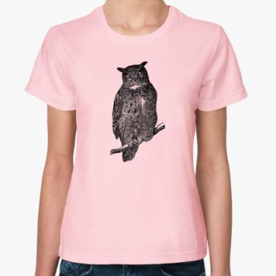 Женская футболка Филин
