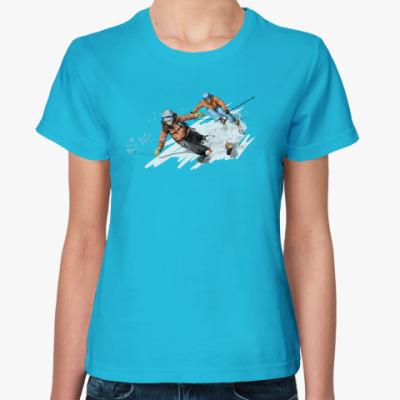 Женская футболка Лыжницы