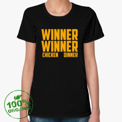 Женская футболка из органик-хлопка PlayerUnknown's Battlegrounds / PUBG (ПУБГ) [2]