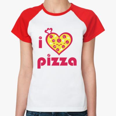Женская футболка реглан Я люблю пиццу
