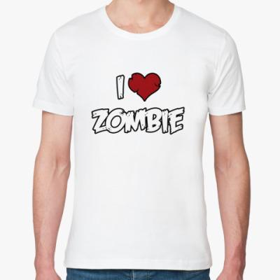 Футболка из органик-хлопка Я люблю зомби
