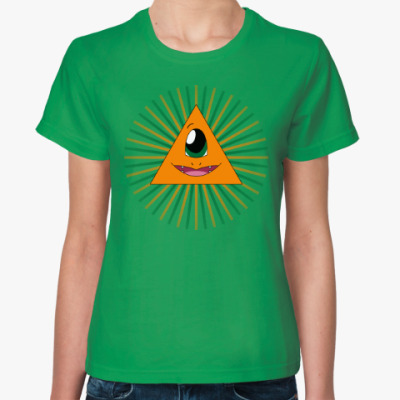 Женская футболка Покемон-масон Чармандер
