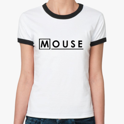 Женская футболка Ringer-T   Mouse M.D.