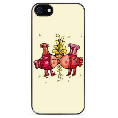 Чехол для iPhone Валентинки-птички
