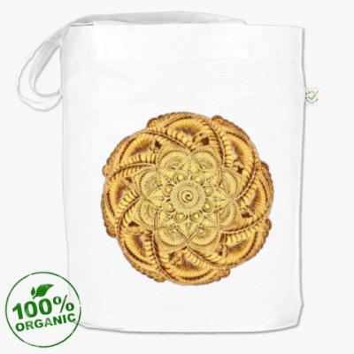 Сумка Золотой цветок - мандала