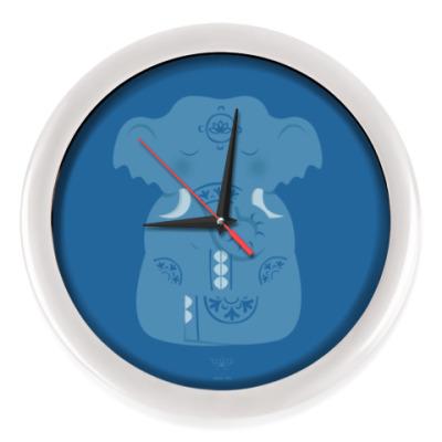 Настенные часы Animal Zen: E is for Elephant