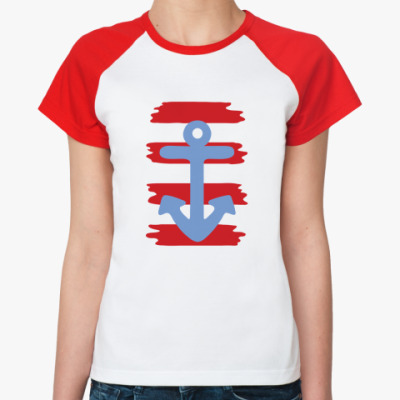 Женская футболка реглан   Морская