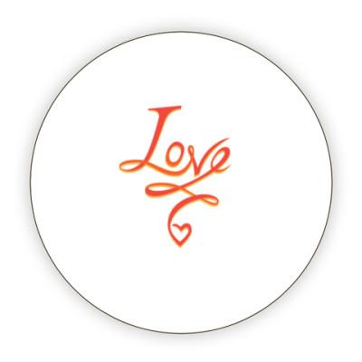 Костер (подставка под кружку) LOVE