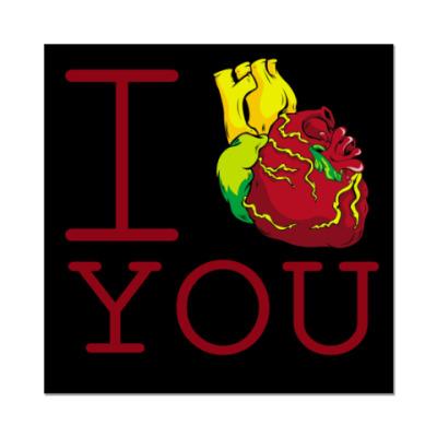 Наклейка (стикер)  I Love You