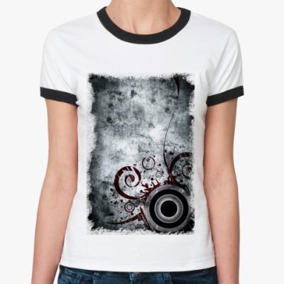 Женская футболка Ringer-T Дизайн