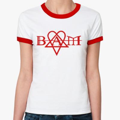 Женская футболка Ringer-T  Bam