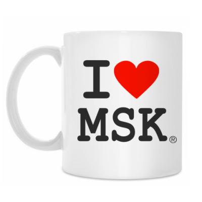 Кружка I love MSK