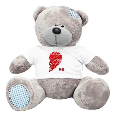 Плюшевый мишка Тедди Половинка Сердца