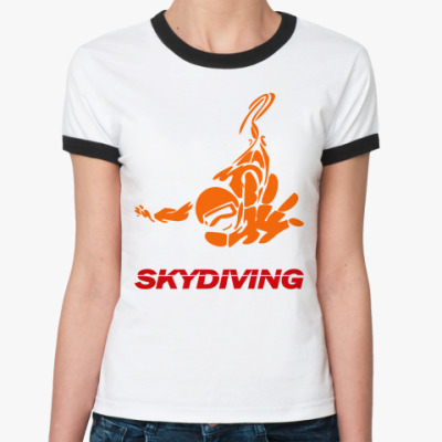 Женская футболка Ringer-T SKYDIVING