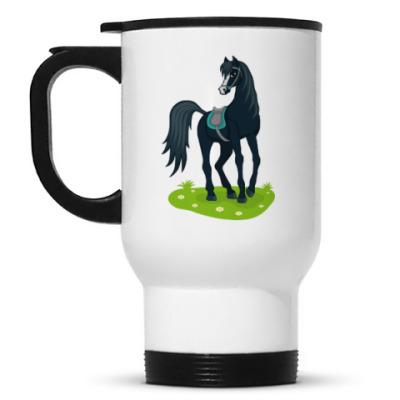 Кружка-термос Красивый конь