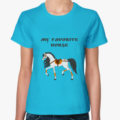 Женская футболка My favorite horse
