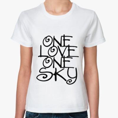 Классическая футболка ONE love, ONE sky