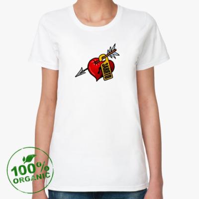 Женская футболка из органик-хлопка Сердце занято