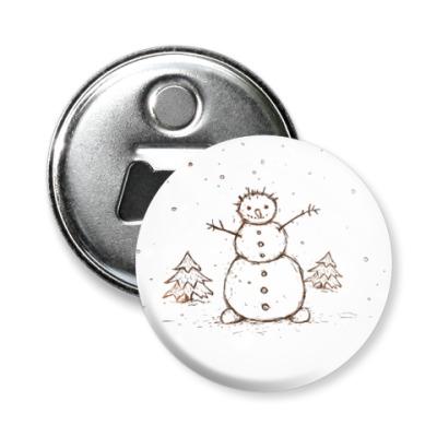 Магнит-открывашка   Снеговик