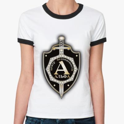 Женская футболка Ringer-T антитеррор