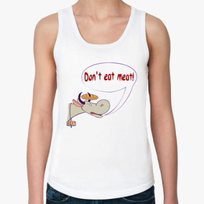Женская майка Don`t eat meat