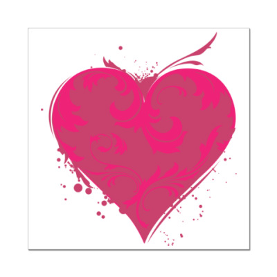 Наклейка (стикер) сердечко
