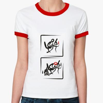 Женская футболка Ringer-T  WEB-маньяки