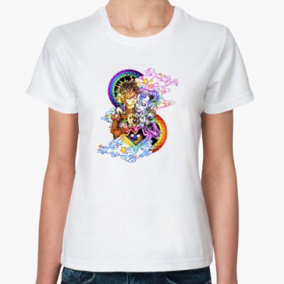 Классическая футболка психоделическая пара