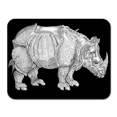 Коврик для мыши Носорог. Тушь.Графика