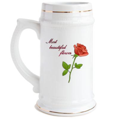 Пивная кружка  Rose