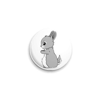 Значок 25мм Милый кролик
