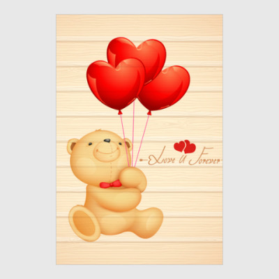 Постер Мишка Тедди