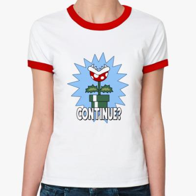 Женская футболка Ringer-T  Continue?
