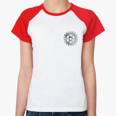 Женская футболка реглан Шестеренка