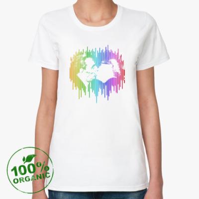Женская футболка из органик-хлопка Братский поцелуй