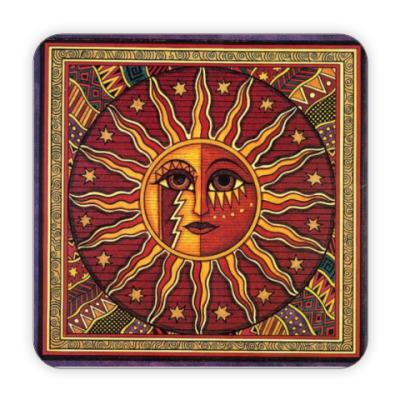 Костер (подставка под кружку) Бог Солнца