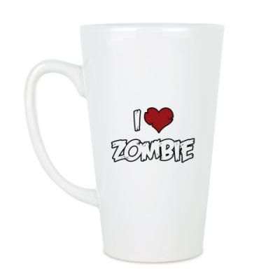 Чашка Латте Я люблю зомби