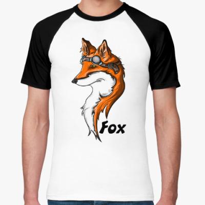 Футболка реглан fox