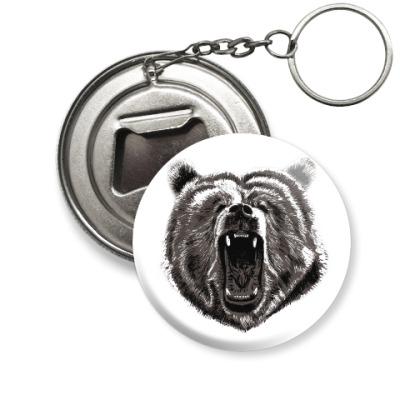 Брелок-открывашка Медведь