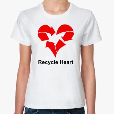 Классическая футболка Recycle Heart