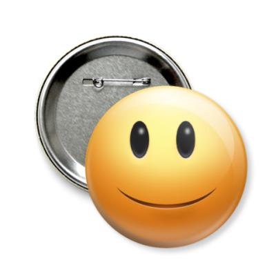 Значок 58мм  'Just Smile'