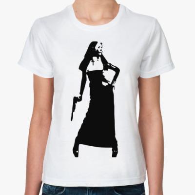 Классическая футболка агрессивная монашка
