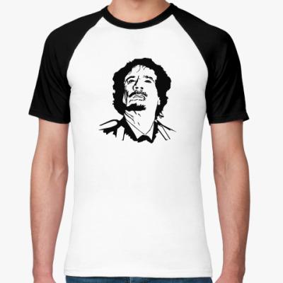 Футболка реглан  'Муаммар Каддафи'