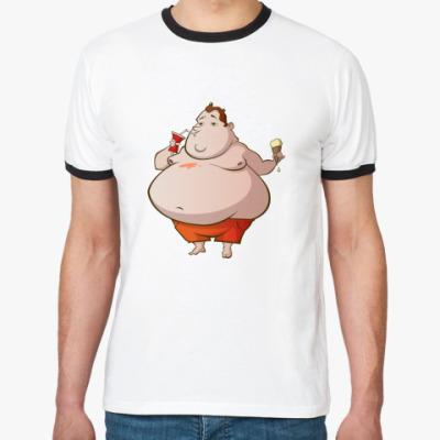 Футболка Ringer-T   Fat boy
