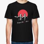 Классическая футболка Пушкин, Гоголь и жи-ши