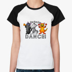 Женская футболка реглан Dance!