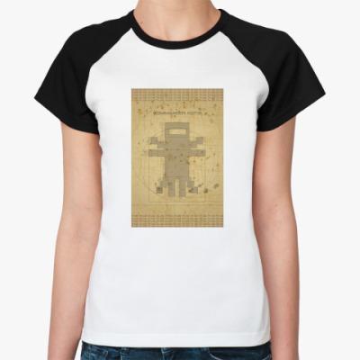 Женская футболка реглан Cat da vinci