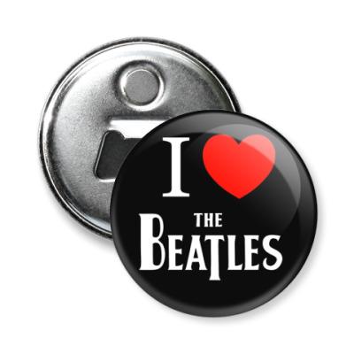 Магнит-открывашка I Love Beatles